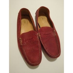 Size 11.5M Maus & Hoffman red loafers